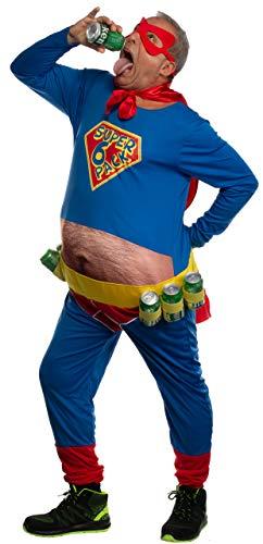 Brandsseller Herren Kostüm Lustiger Superheld Karneval Party Junggesellenabschied Verkleidung One Size/Einheitsgröße Blau