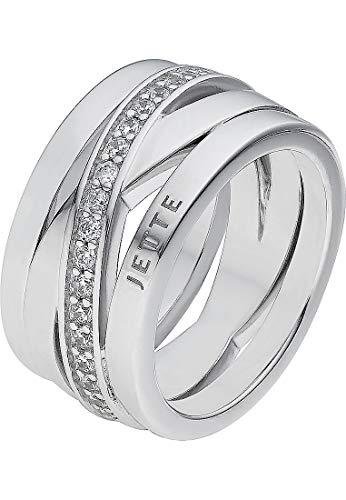 JETTE Silver Damen-Damenring 925er Silber 55 Silber 32003932