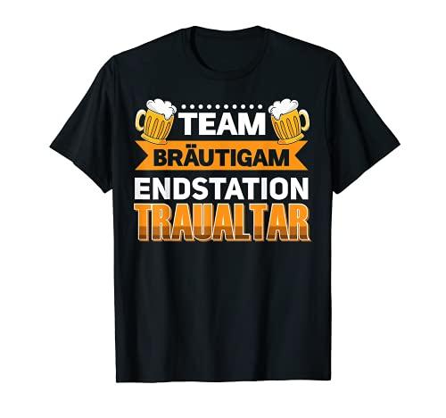 Team Bräutigam Junggesellenabschied Traualtar T-Shirt