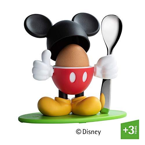 WMF Disney Mickey Mouse Eierbecher mit Löffel, Kunststoff, Cromargan Edelstahl poliert, spülmaschinengeeignet, farb- und lebensmittelecht