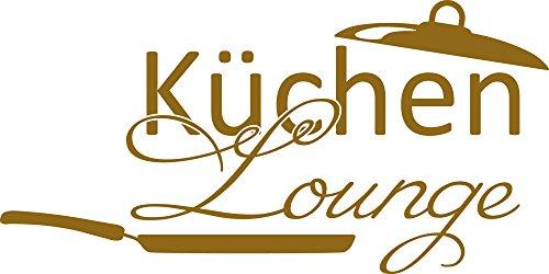 GRAZDesign Wandtattoo Wand-Spruch für Küche Küchen-Lounge mit Pfanne Wand-Worte für Esszimmer Restaurant (80x40cm//092 Kupfer)