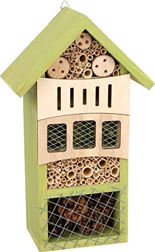 small foot 12051 Insektenhotel ins Grüne aus Holz mit praktischer Aufhängung, Nisthilfe und Überwinterung für Insekten, Garten-Deko