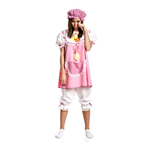 Kostümplanet Baby-Kostüm für Damen + Mütze rosa witziges Faschingskostüm Größe 44/46