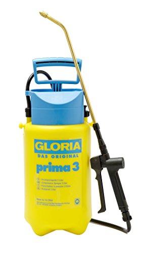GLORIA Drucksprüher prima 3 | Gartenspritze | 3 L Füllinhalt | Verstellbare Messingdüse | Kompakt für den kleinen Garten