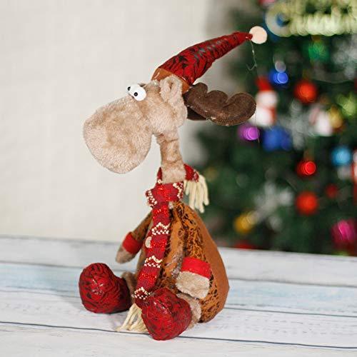 CQ&WL Weihnachtsschmuck Weihnachtselch Stofftier Weihnachtsfigur 15.7'/ 40cm