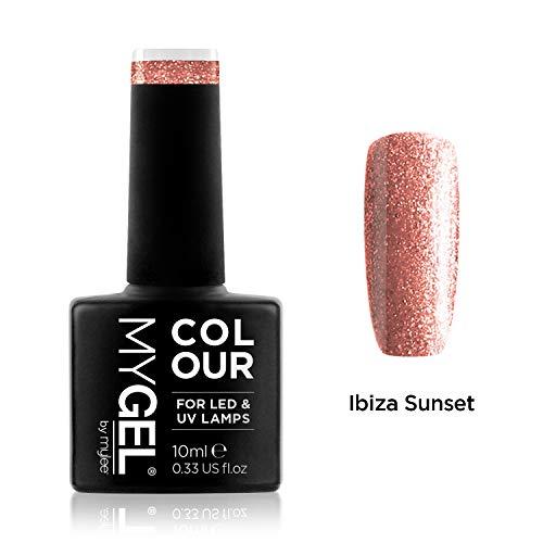 MyGel Nagellack von MYLEE (10ml) MG0081 - Ibiza Sunset UV/LED Nail Art Maniküre Pediküre für den professionellen Einsatz im Wohnzimmer und zu Hause - Langlebig und einfach anzuwenden