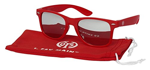 1. FSV Mainz 05 Sonnenbrille Rot, verspiegelt