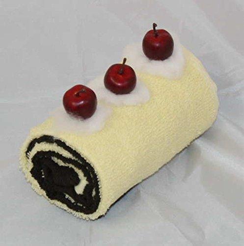 Handtuchrolle / Handtuchtorte, bestehend aus 2 Gästetüchern, Farbe je vanille und Schoko