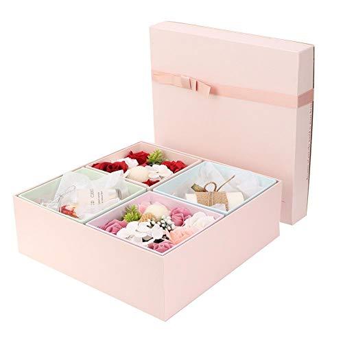 KEYREN Handgemachte Rose Flower Soap Duftkerze Box Romantisches Geschenk komfortabel leicht und elegant