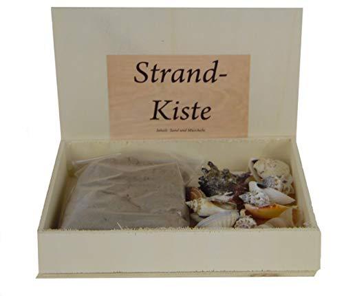 osters muschel-sammler-shop Strandkiste - Muscheln und Sand - eine witzige Geschenkidee als Urlaubsmitbringsel oder Urlaubserinnerung - zum dekorieren in Vasen und Schalen perfekt geeignet