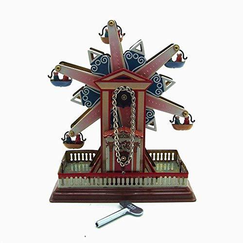Sebasty deko Wohnzimmer Kreative Geschenke Spielzeug Kunsthandwerk Retro-Nostalgie Personifizierte Dekorative Schmiedeeiserne Verzierungen Riesenrad (13.5 * 7.5 * 16cm)