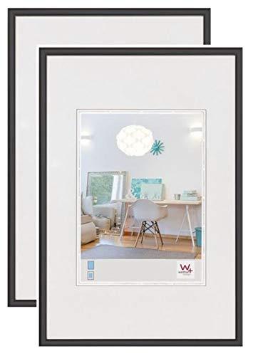 walther design KV050BD New Lifestyle Kunststoff Bilderrahmen, 40x50 cm, schwarz, 2er Pack
