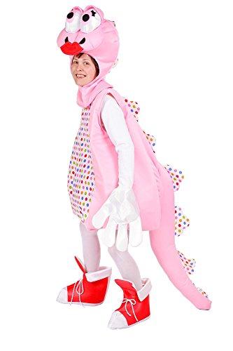Süßes Dinosaurier Kostüm für Damen Rosa - Lustiges Saurier Kostüm für Karneval oder Mottoparty