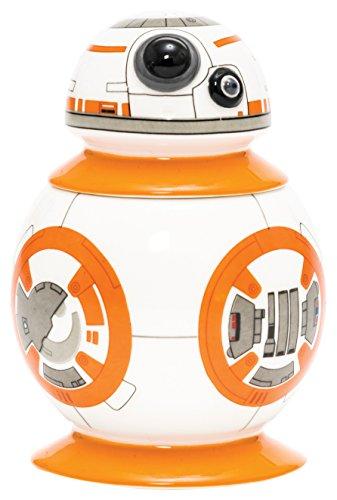 BB-8, der Droide aus Star Wars Episode VII als 3D Eierbecher mit integriertem Salzstreuer im Deckel in Keramik 8x8x10 cm - in attraktiver Geschenkpackung - der perfekte Hingucker in der Küche.