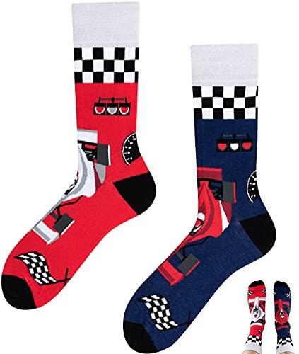 TODO Colours Lustige Socken mit Motiv - Mehrfarbige, Bunte, Verrückte für die Lebensfreude (Formula Fan, numeric_43)