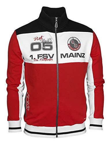 1. FSV Mainz 05 1905 Sweatjacke Rot & Weiß, Gr. 3XL