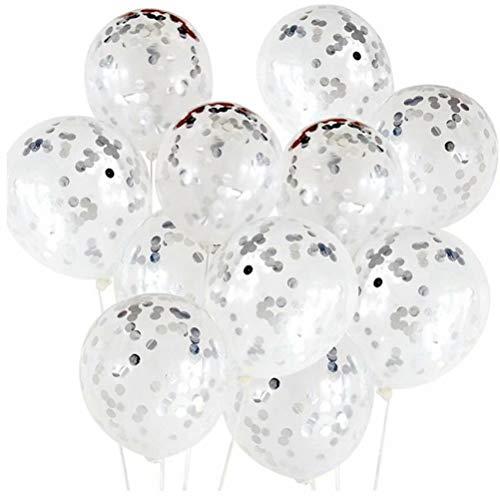 20 St¨¹ck Gold/Silber Konfetti Luftballons, 30,5 cm Kreis Latex-Luftba.