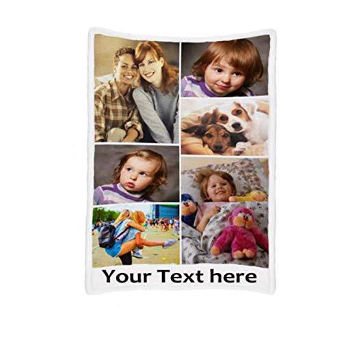 JINFU Fotodecke mit eigenem Foto   Decke selbst gestalten   Decke Bedrucken Lassen mit Wunsch-Motiv,Personalisierte Decke mit Foto,Decke mit Namen (200x150cm)