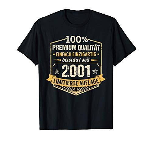 20. Geburtstag Mann Frau 20 Jahre 2001 Spruch Deko Geschenk T-Shirt