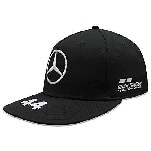 Mercedes-AMG Petronas Motorsport Offizielle Formel 1 Merchandise 2019 F1™ - Lewis Hamilton Flatbrim Kappe – Schwarz