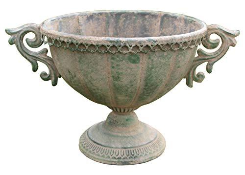 Küstenambiente Metall Amphore oval im antiken Landhausstil Blumentopf Pflanztopf Pflanzschale