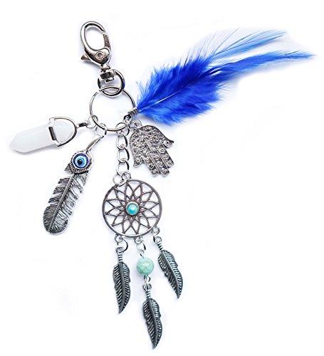 Schlüsselanhänger Traumfänger – Dream Catcher Glücksbringer Schutzsymbole - Spiritualität Esoterik Yoga Astrologie Energie