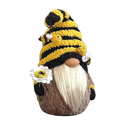 Lomelomme Biene Wichtel Oster Frühling Bienenelfen Deko Festliche Geschenke Ostern Bee Puppe Tischdekoration Basteln Wichtel Deko Familie Festliche Geschenk für Kinder