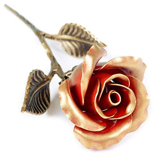 Geschmiedete rotes Ewige Eisen Rose - Romantische Geschenk für Sie