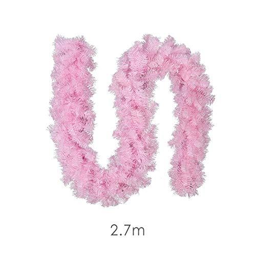 FLYWS Weihnachten Deko Rattan rosa PVC mit Lampe Rattan Mall Restaurant Dekorationen
