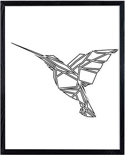 Postergaleria Bilderrahmen | 50x70 | Schwarz | Holz | Plexiglas | 8 Farben | 10 Größen | Posterrahmen | Fotorahmen