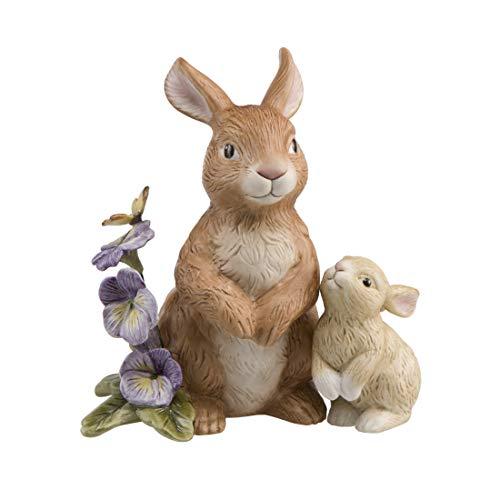 Goebel Jahreshase 2019 Frühling 66844281 Hasenpaar mit Stiefmütterchen