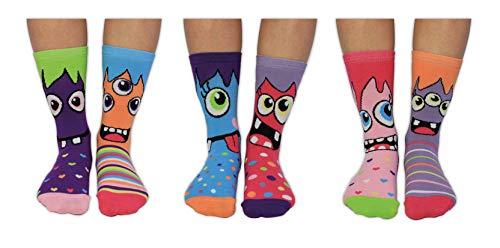 United Oddsocks Miss Mashers, Socken für Mädchen, Mehrfarbig, Gr.- 30.5-38.5 EU