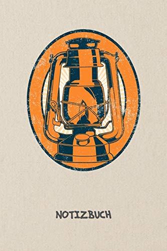 NOTIZBUCH: A5 Liniert ältere Generation Schreibblock - Notizblock 120 Seiten 6x9 inch Tagebuch für Erwachsene - Gartenfackel Edelstahl Notizheft Gartendeko Vintage Vintage-Fans Geschenk 70er Party