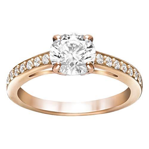 SWAROVSKI Damen-Ringe Edelstahl Kristall '- Ringgröße 55