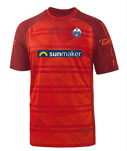 Saller SC Paderborn 07 Away Trikot 2018/2019 165 rot-dunkelrot Gr. M