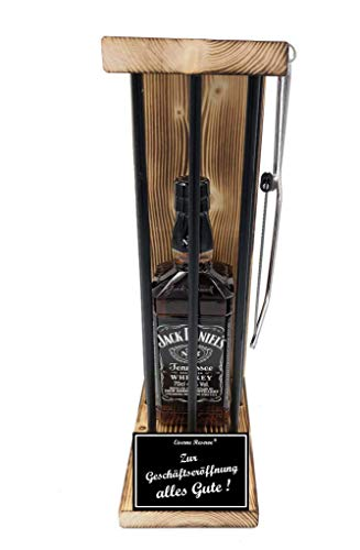 Eiserne Reserve - Flasche Jack Daniels 0,70L incl. Bügelsäge - witziges originelles Geschenk - Geburtstagsgeschenk - Männergeschenk Frauengeschenk, Gadget, auch erhältlich mit Alles Gute Alles Gute zum 16 bis 100 Geburtstag Alles Gute zum Geburtstag.