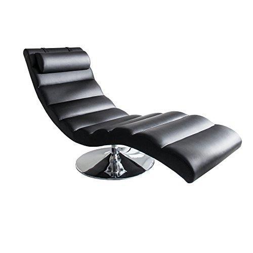 Invicta Interior Moderne Design Liege RELAXO schwarz Sesselliege Sofaliege Polsterliege