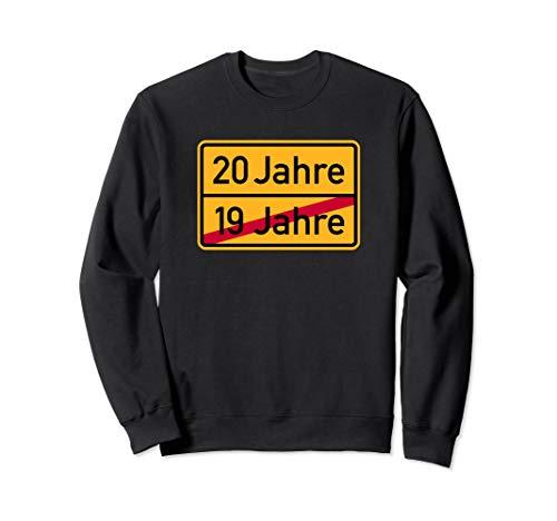 20 Jahre Straßenschild Geburtstag Sweatshirt
