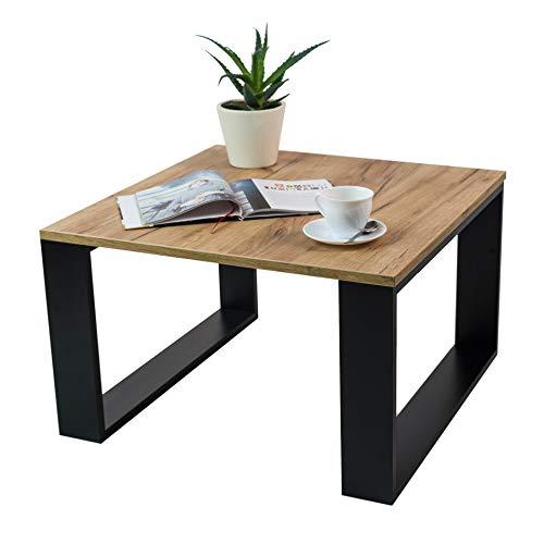 Clif - Wohnzimmer Couchtisch Modern Wohnzimmertisch Universal, 65 x 65 x 40 cm Smart Living Beistelltisch Kaffeetisch Rechteckiger Sofatish (Craft Oak)