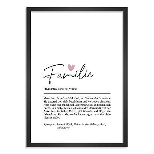 Himmelsflüsterer - Definition Poster & Kunstdrucke | Familie Geschenk | Wandbilder Wohnzimmer | Geschenke für Familie Geburtstag | Wanddeko Deko Wohnzimmer | DINA A4 ohne Rahmen