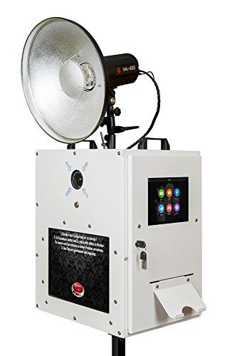 fexon Photobooth Ready 1.1 Photo Booth, komplette Fotobox mit Drucker, einsatzfertig