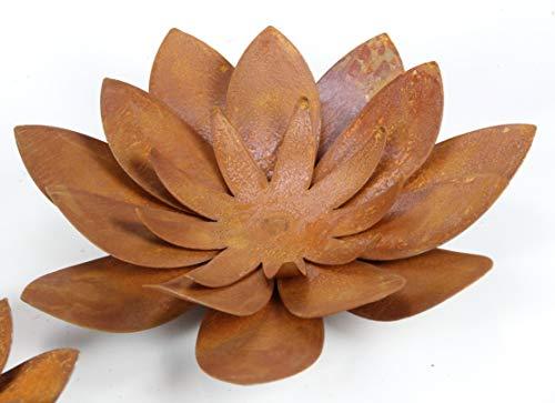 Edelrost Blüte (groß) 38 cm Durchmesser zum Legen Blume aus rost Metall für innen und außen
