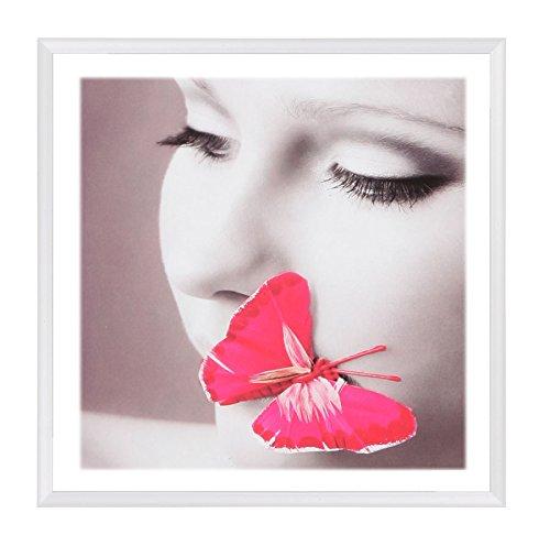Photo Style Bilderrahmen 20x20 30x30 40x40 50x50 quadratisch Foto Rahmen: Farbe: Weiß   Format: 50x50