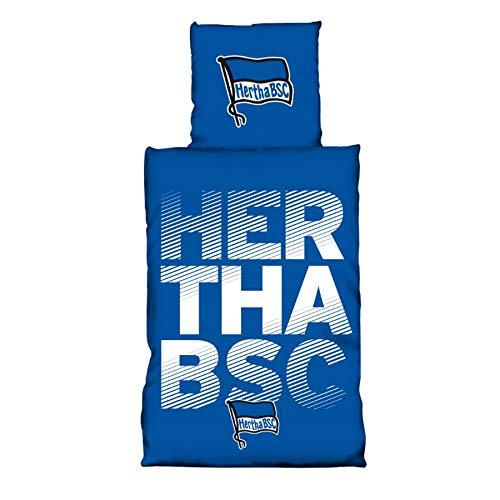 Hertha BSC Baumwoll Bettwäsche Schriftzug