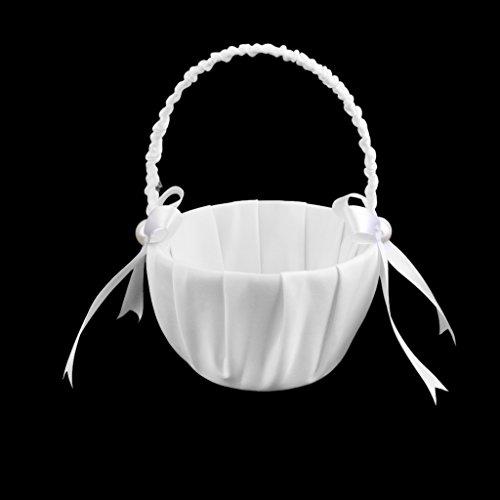 LOVIVER Perlen Blume Hochzeit Blumenmädchen Blumenkorb Blumenkinder Körbchen
