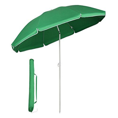 Sekey® Sonnenschirm 160 cm Marktschirm Gartenschirm Terrassenschirm Grün Rund Sonnenschutz UV20+