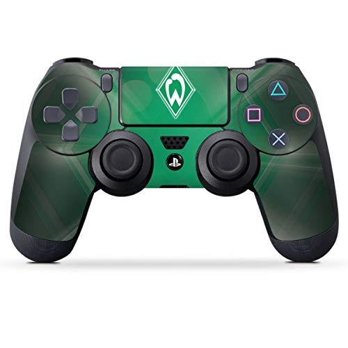 DeinDesign Skin kompatibel mit Sony Playstation 4 PS4 Controller Folie Sticker SV Werder Bremen Offizielles Lizenzprodukt Wappen