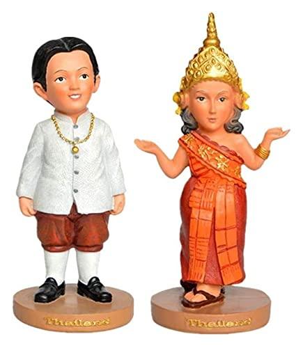 WQQLQX Statue Indische Liebhaber Statuen tragen traditionelle indische kostüme Paar skulptur Harz Handwerk Figuren Dekoration Geschenke Souvenirs Skulpturen