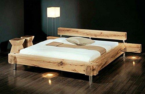 Massivholzbett Balken-Bett - rustikales Designerbett, Größe:160x200cm