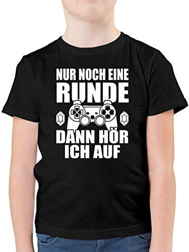 Statement Sprüche Kinder - Nur noch eine Runde - 152 (12/13 Jahre) - Schwarz - nur noch eine runde Kind - F130K - Kinder Tshirts und T-Shirt für Jungen